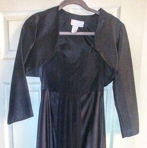Formal full-length dress spaghetti straps Bolero j